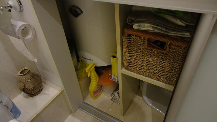 Хранение вещей в ванной, как спрятать водонагреватель