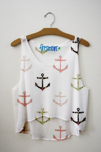 Floral Anchor~By Fresh Tops