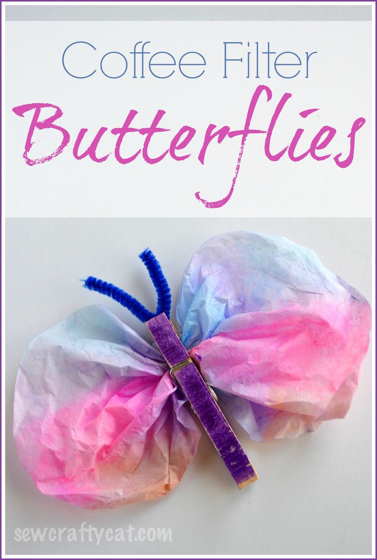 Coffee Filter Butterflies Craft   sewcraftycat.com @Christy Armonat this looks like something fun for the girls