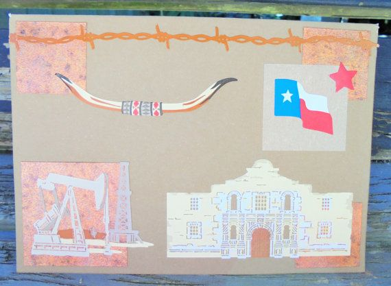 Flag of Texas  handmade card any occasion by RogueKissedCraft