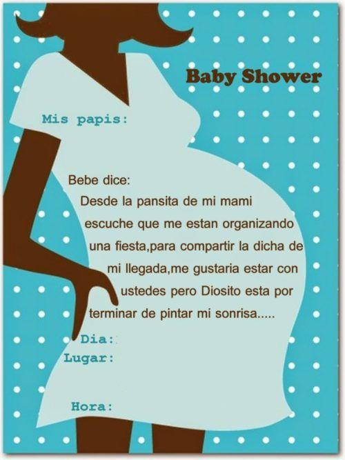 Invitaciones Con Frases Bonitas Para Baby Shower Baby En 2019