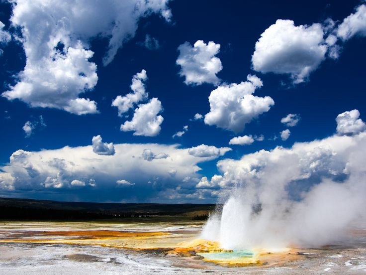 Yellowstone National Park, Wyoming, USA.  Take a trip to the kingdom of ice and fire hidden in the heart of the Rocky Mountains. Yellowstone National Park leaves you deeply enchanted with its wilderness and unique, out of this world scenery! #Travel #Exotic #ShermanFinancialGroup