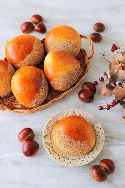 """栗みたいなスイートポテトあんぱん♪ - はじめてでも簡単♪あいりおーの""""毎日つくりたくなる""""おうちパン レシピブログ -料理ブログのレシピ満載!"""
