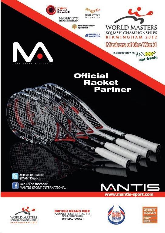 MANTIS World Squash Masters Official Racket Partner
