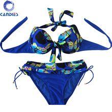Plus Size Bikini Sets Butterfly Pattern Printed Push Up Biquini 6XL Women Swimwear Large Sized 48-56 Swimsuit Bathing Suit(China (Mainland))