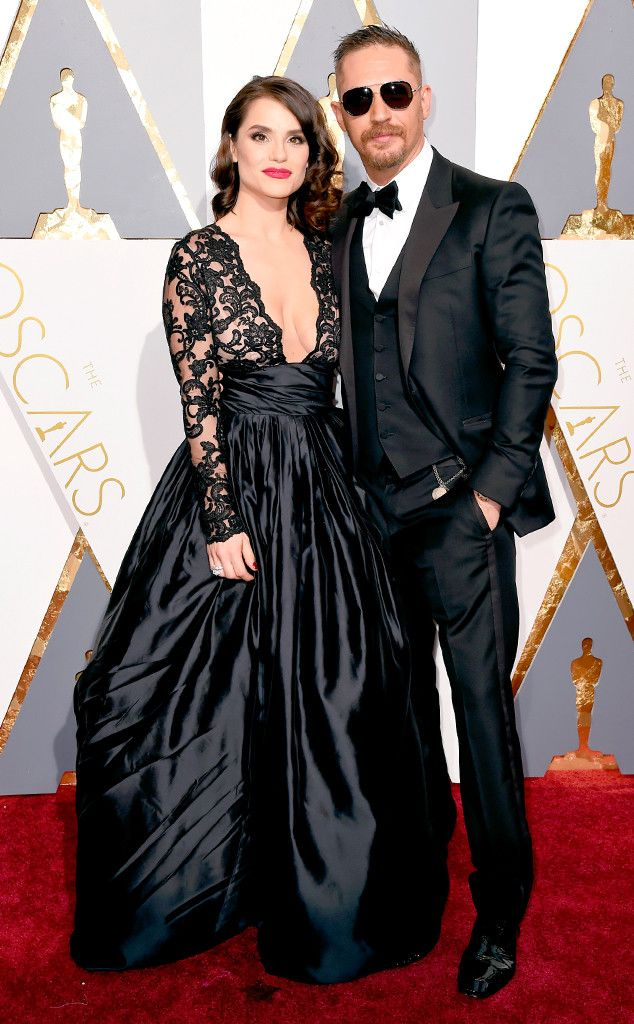 Tom Hardy & Charlotte Riley from Couples at the 2016 Oscars | E! Online
