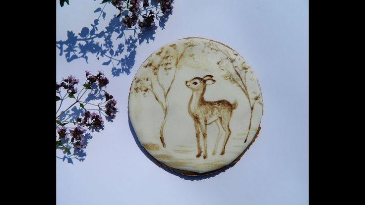 🎨 Как нарисовать кофейного оленёнка на прянике / How to draw a deer coff...