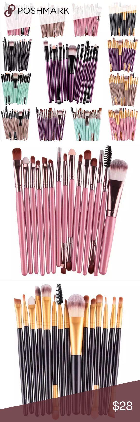 15pcs Make-up Brushes Set Professional Make-up Brushes Set 15 pcs  Handle Materi…
