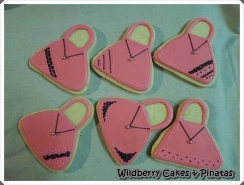 Handbag theme biscuits