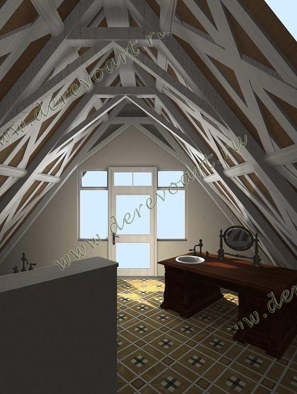 Деревянные потолки из массива на заказ