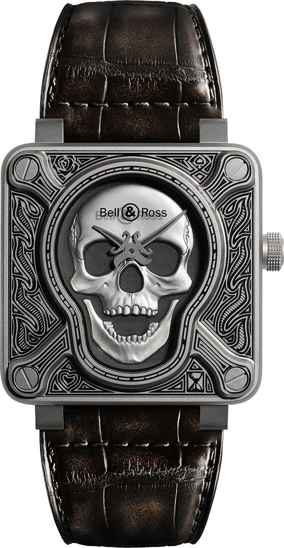 La Cote des Montres : La montre Bell & Ross BR 01 Burning Skull - La montre…