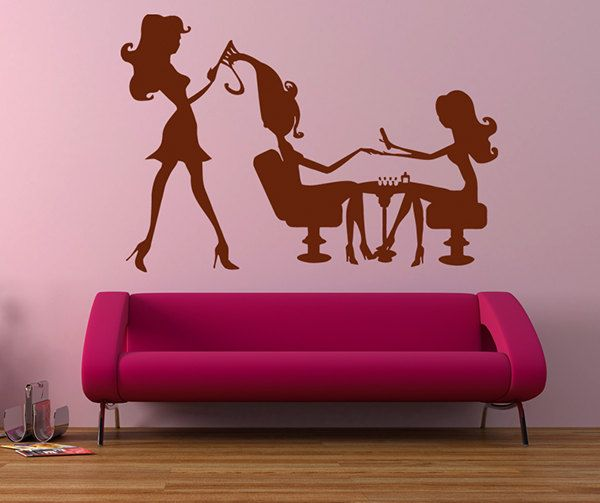 Hair Salon Wall Decor 95 best wall decals hair salon/nail salon/spa images on pinterest