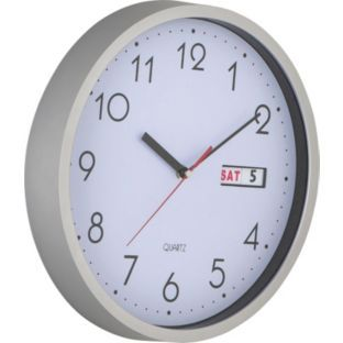 Buy Silver Day and Date Wall Clock at Argos.co.uk - Your Online Shop for Clocks.
