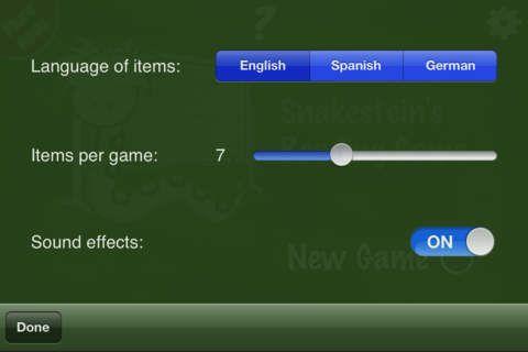 Reading game lite er tyske billeder og ord, der skal matches. Appen er gratis.