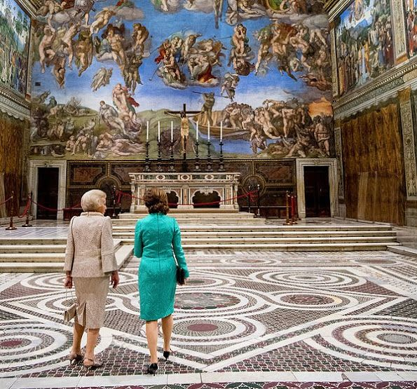 """Queen Silvia and Princess Beatrix - """"Rembrandt at the Vatican:  Images from Heaven and Earth"""""""