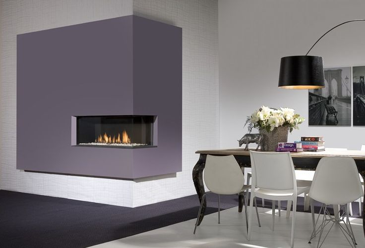 Gas fireplace with remote control DUET Premium L by DIM'ORA