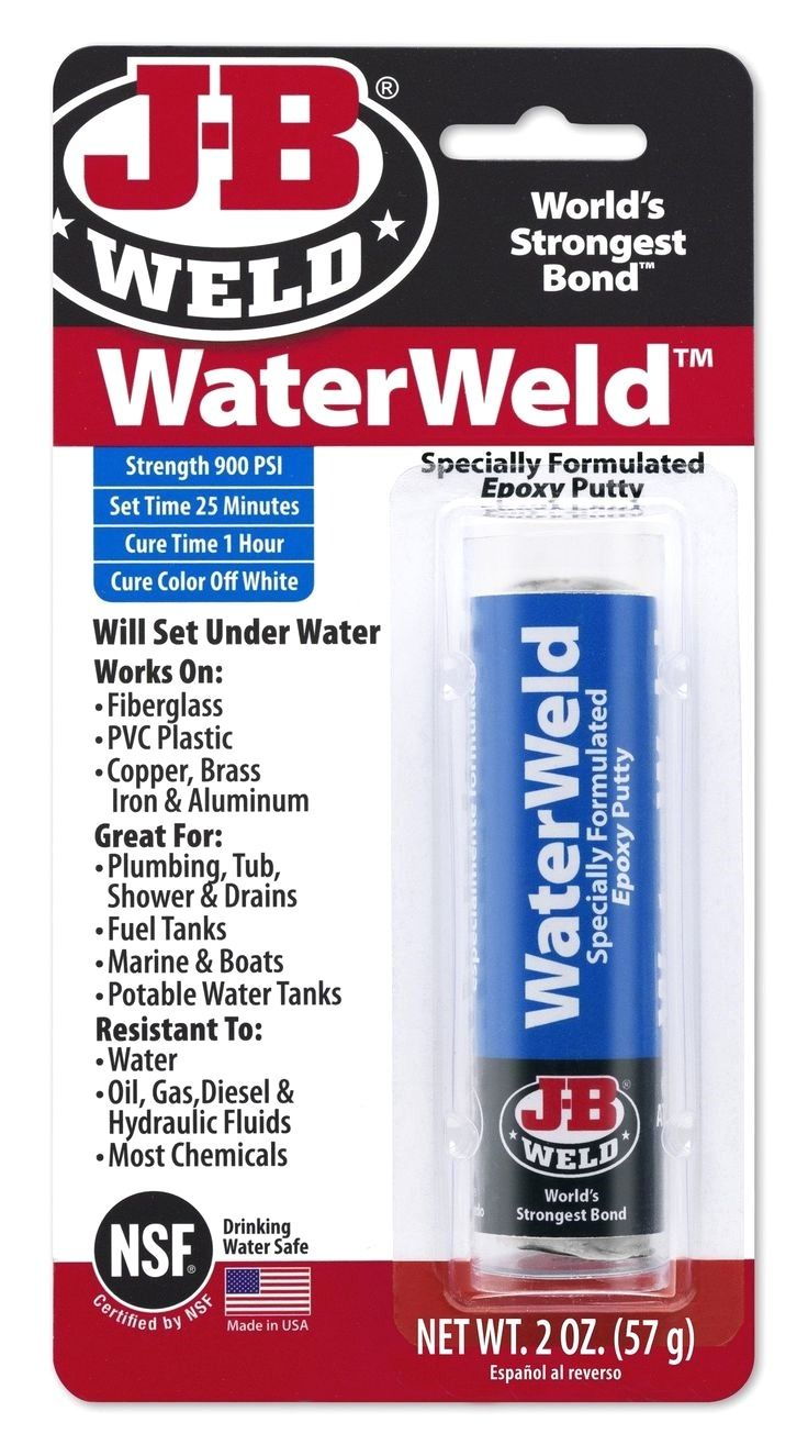 Waterweld Will Plug Or Seal Leaks And Patch Holes And Cracks In Almost Anything Ideal For Repairing Plumbing Fuel Tanks Tu Epoxy Putty Seal Leaks Patch Hole