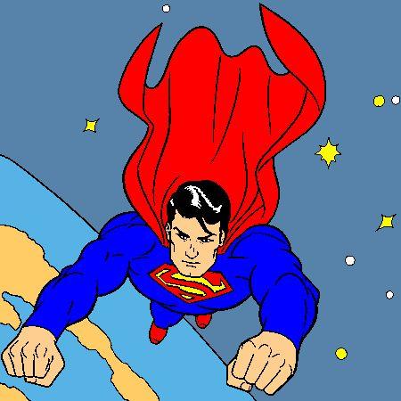 Coloriage superman a imprimer