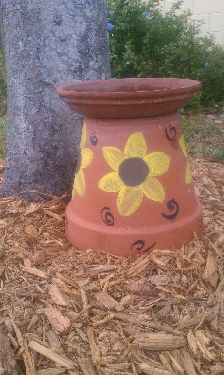 169 Best Clay Pot Bird Baths Amp Feeders Images On Pinterest