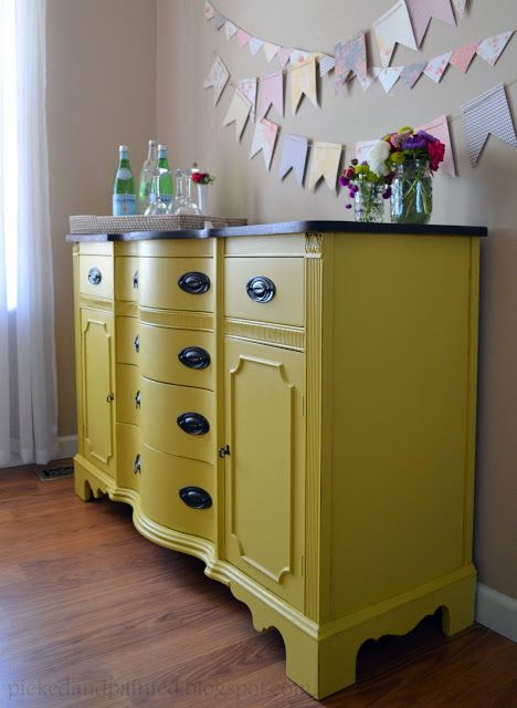 Picked & Painted: yellow furniture