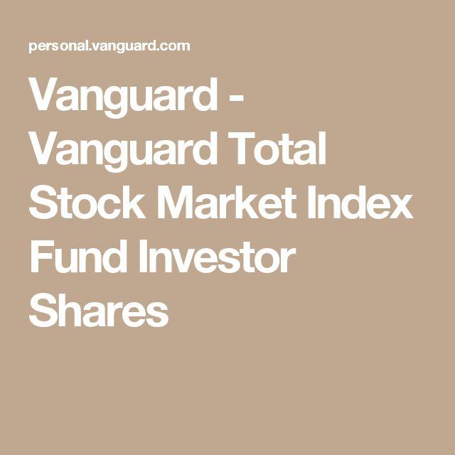 Vanguard - Vanguard Total Stock Market Index Fund Investor Shares