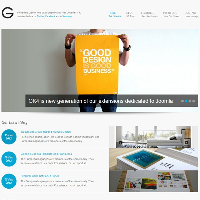 Glenon – Responsive Joomla Katene Lewat