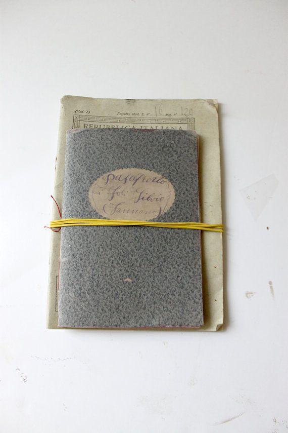 Quaderno fatto a mano ardesia e rosso cucito a di archivioGotico, €8,00
