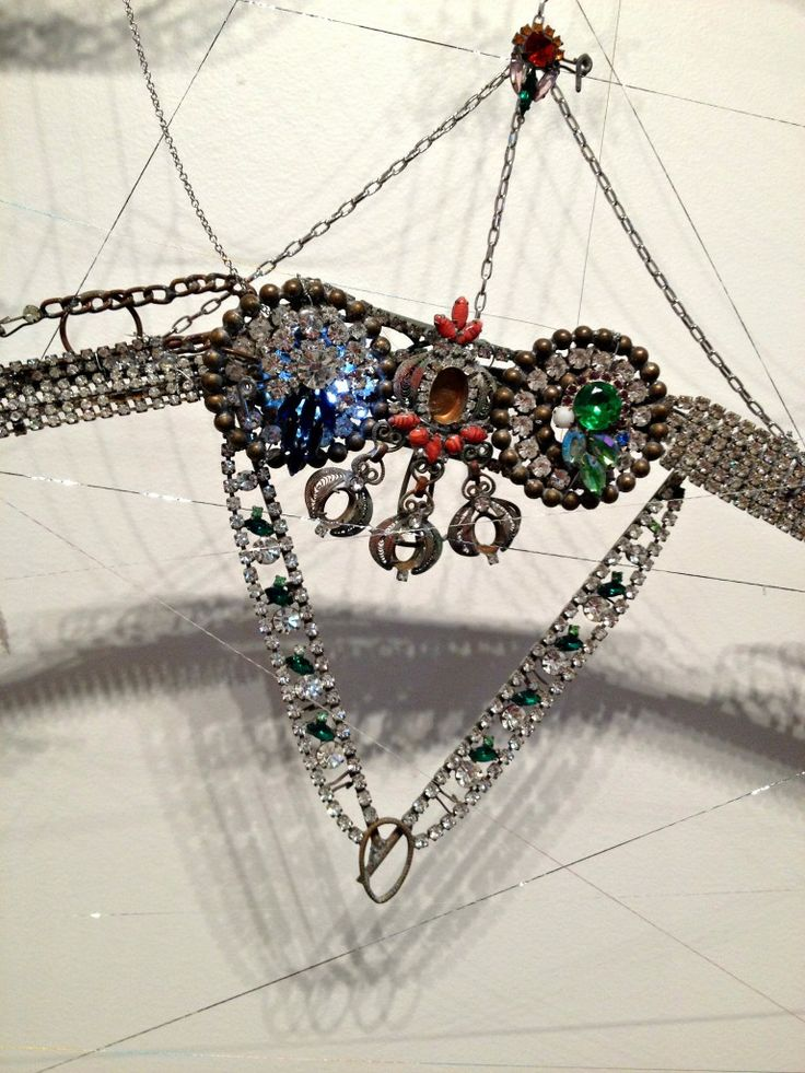 Close Up of Spider Web made of jewelry