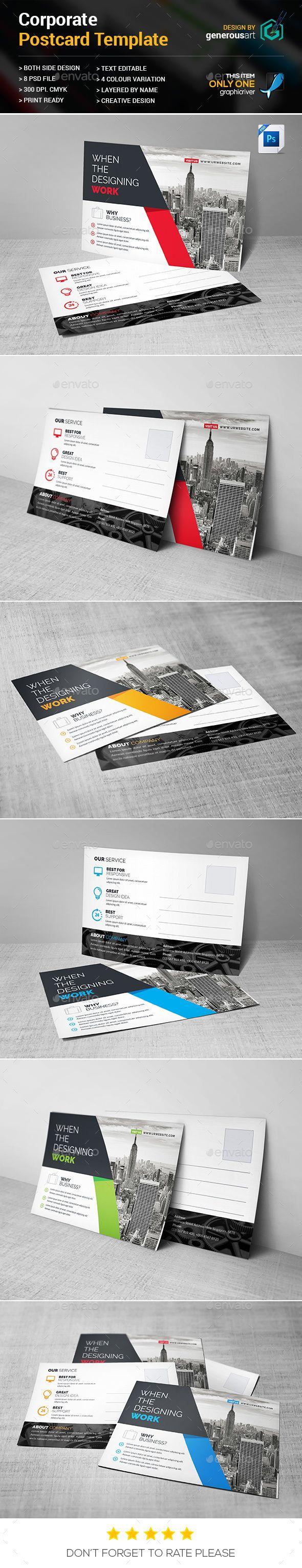 Corporate Postcard 78 best Design Layouts Postcards