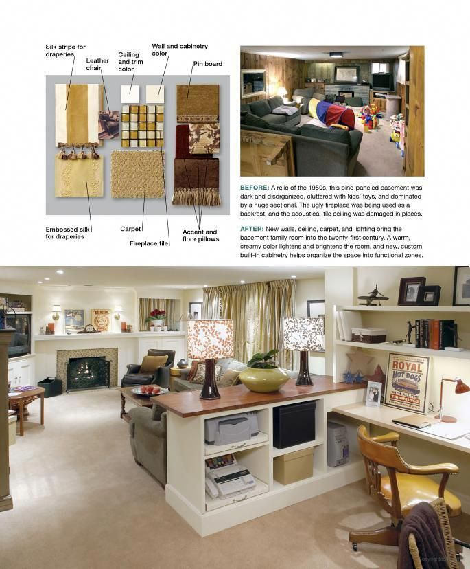 Candice Olson Office Design: Candice Olson Basement With Scrapbook Area