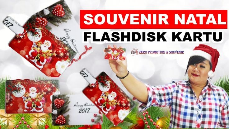 Review Souvenir Natal Flashdisk Kartu