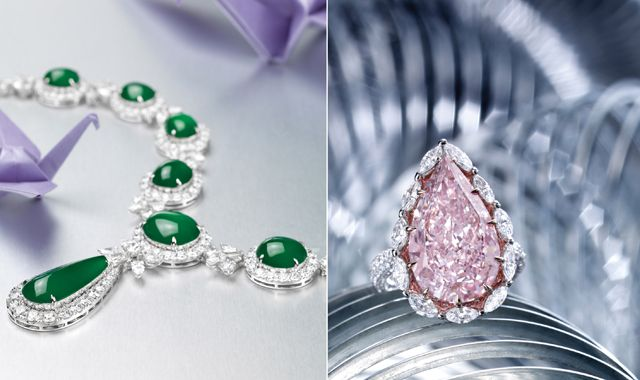 Sotheby's 4oth Anniversay auction in Hong Kong showcases a gorgeous 10.94 carat ! pear shaped pink diamond.