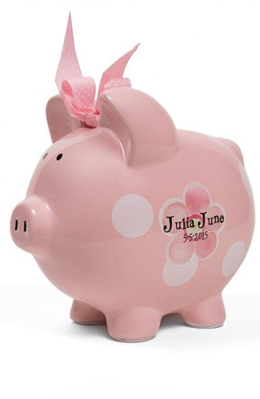 Toddler Girl's Someday Inc. Personalized Piggy Bank