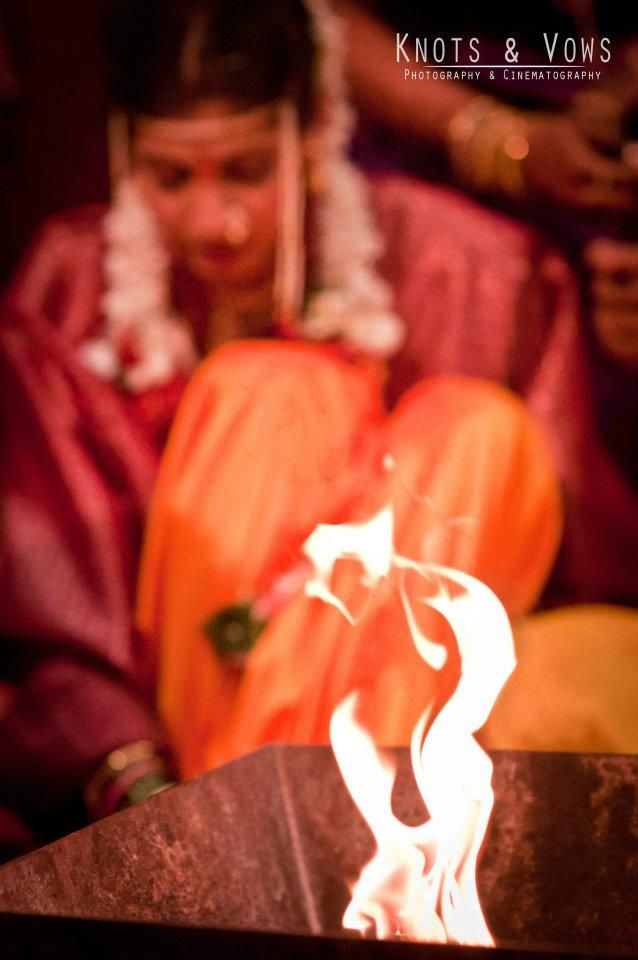 The primary witness of a Hindu marriage is the fire-deity (or the Sacred Fire) Agni as seen in the picture. #knots and vows #wedding photography mumbai #mumbai wedding photographer #wedding shoot