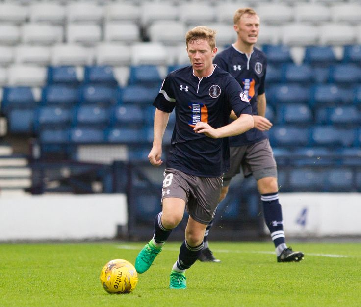 Queen's Park's Dominic Docherty in action during the Betfred Cup game between Queen's Park and Edinburgh City.