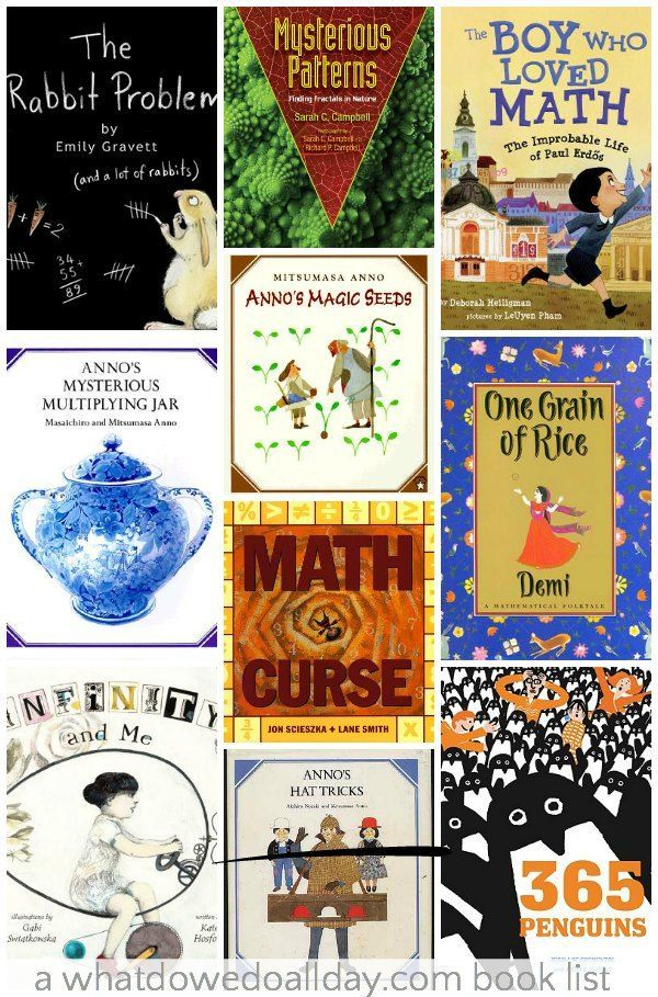 Math picture books that make advanced concepts fun for kids. #math