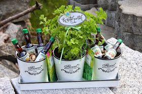 Polly kreativ: Kräutergarten Geschenk mit Kräuterschnaps