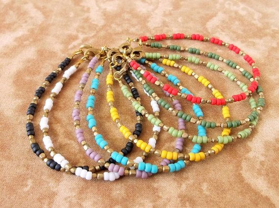 Boho Jewelry Dainty Seed Bead Bracelet