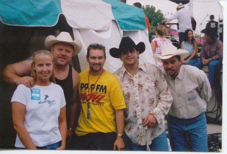 Mary and me with Chad Brock, Rhett Atkins, and Jeff Carson.