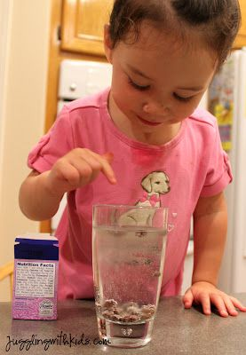 My son did this fun experiment at Kindergarten camp last week. It was simple, yet very entertaining…and my two year old LOVED it! Supplies: 7-Up (Sprite and other clear, carbonated beverages…
