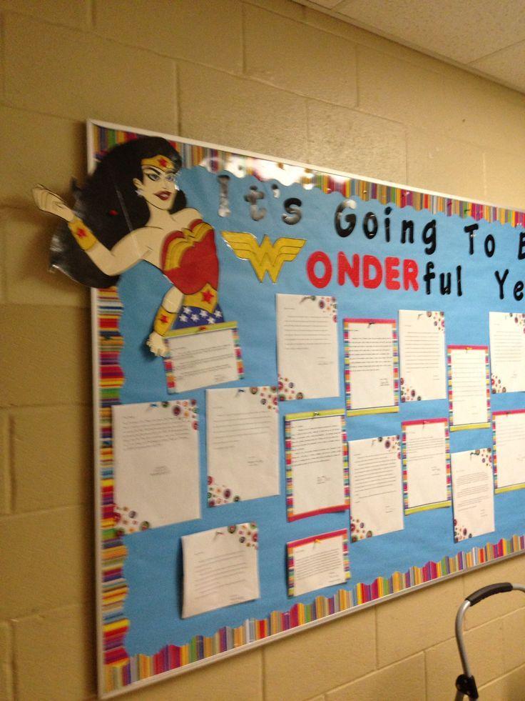 Superhero+Classroom+Theme+Ideas   Superhero theme: start of school bulletin board- letters from last ...