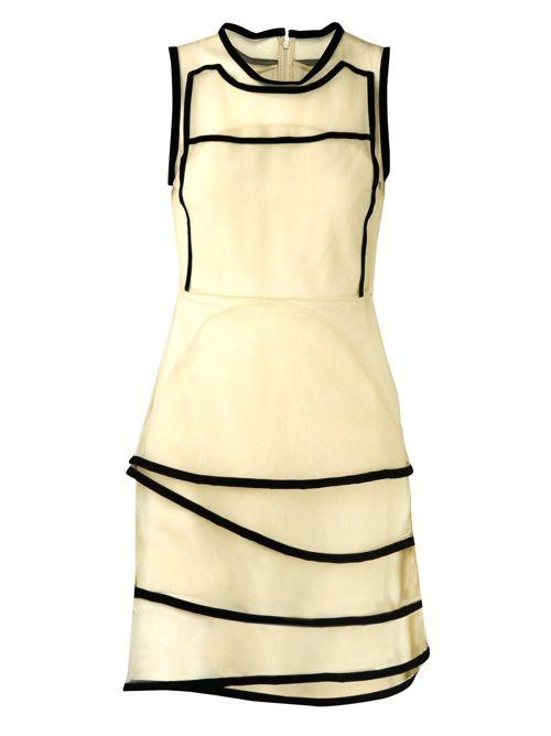 Christopher Kane Woman Cutout Printed Wool-blend Midi Dress Black Size 14 Christopher Kane XprsEGcjV