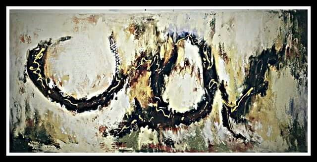 Abstract painting by Constantin Paunescu
