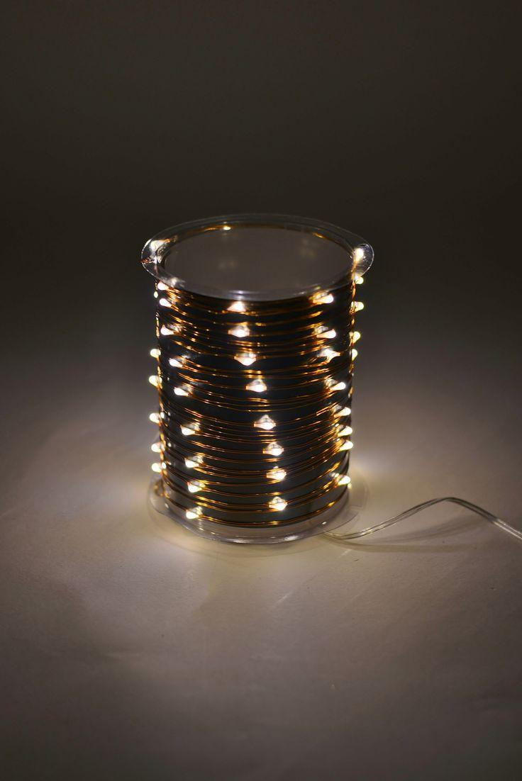 Outdoor Fairy Lights  Battery Op.20 FT 60 Warm White LED Light Strings  20'ft…
