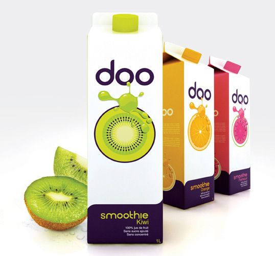 packaging: Graphic Design, Doo Smoothie, Package Design, Fruit Juice, Packaging Design, Branding, Packaging Inspiration, Beverage Packaging