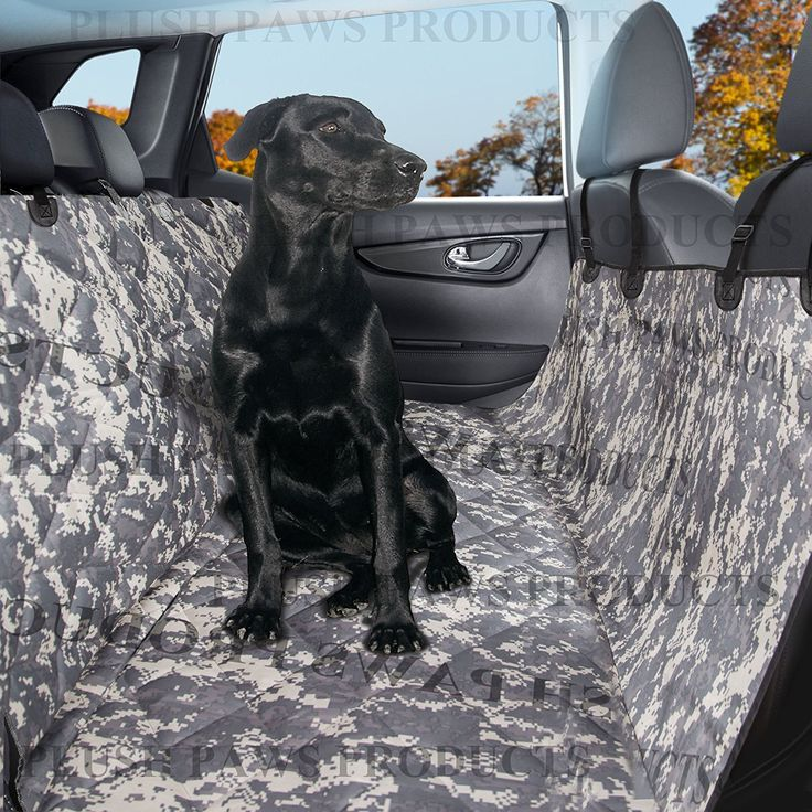 Plush Paws Pet Seat Cover Waterproof With 2 Bonus Car Belts And Harnesses