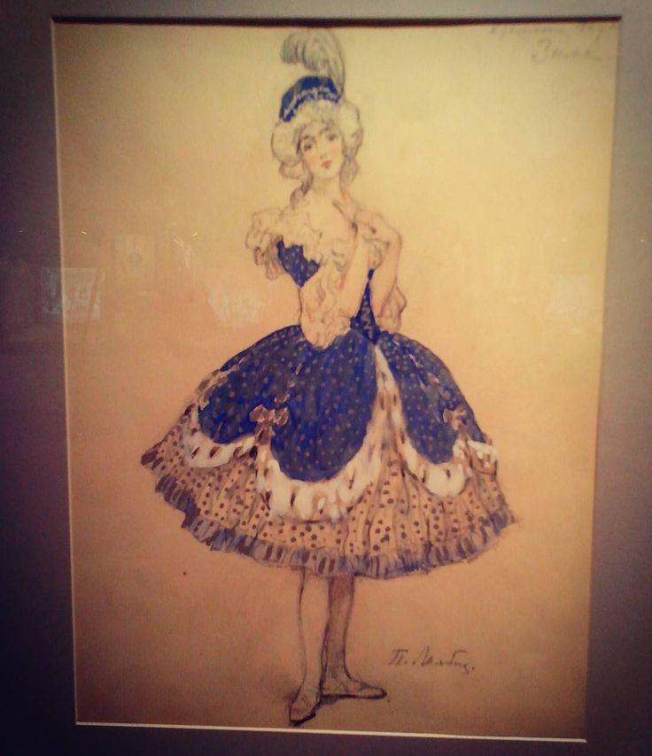 "Sketch for ""Seasons"" by Petipa & Glazunov.Mariinsky. 1900. #balletdancer #ballerina #ballet #balletmaniacs #art #vintage #sketch #museums #costume #mariinsky #exhibition"