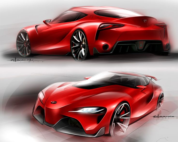 Toyota FT-1 Concept - Design Sketches