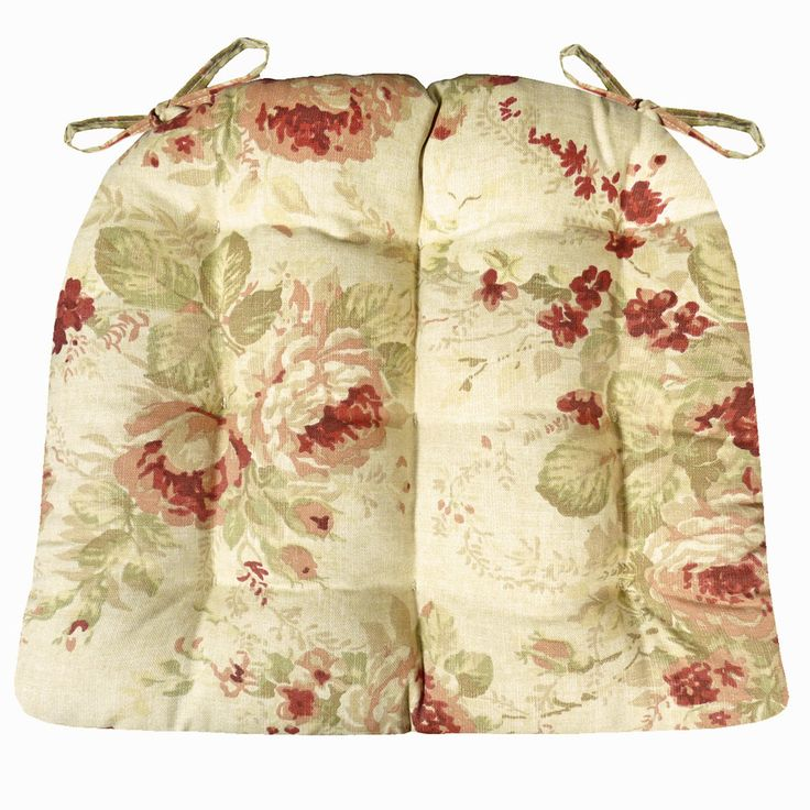 Chablis Rose Floral Dining Chair Pads