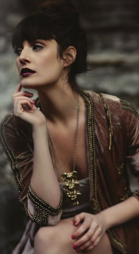 Beautiful beaded velvet coat. http://robyn-renee.blogspot.com/2012/05/fashion-photoshoot-michelle-kim.html